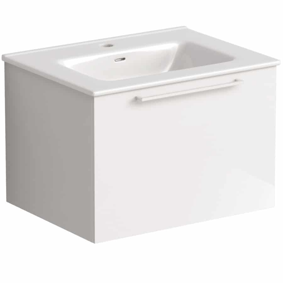 Akido 600 1 Drawer Unit Gloss White with Boss Basin