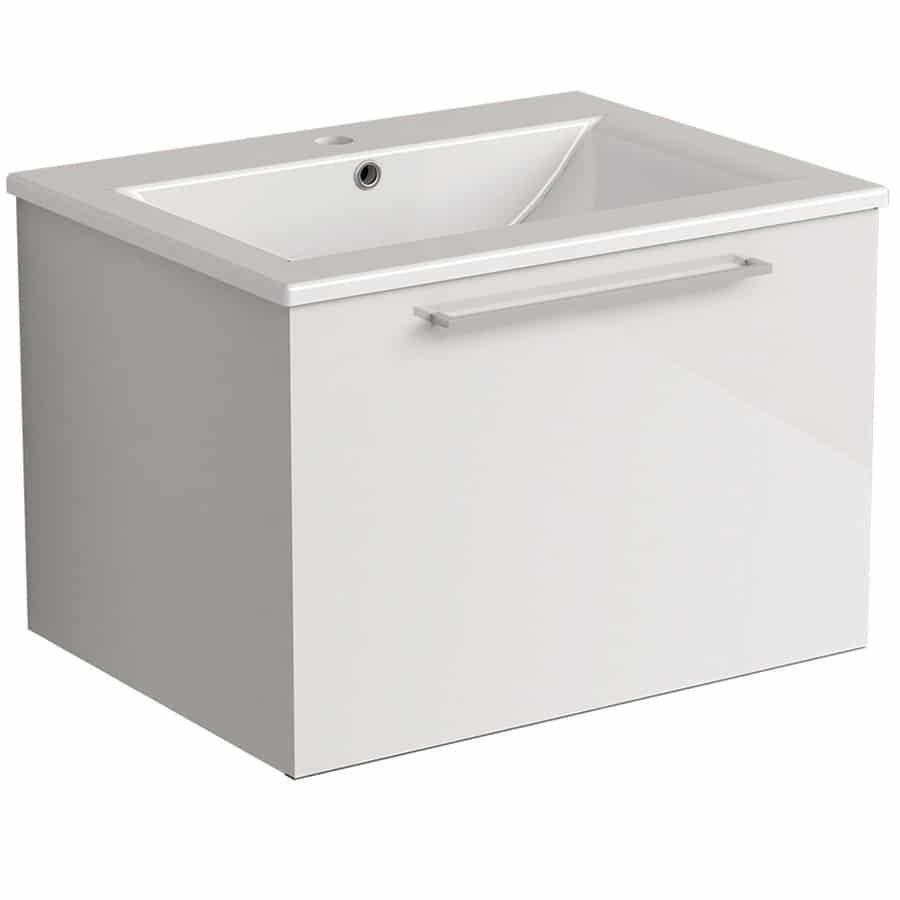 Akido 600 1 Drawer Unit Gloss White with Akido Basin