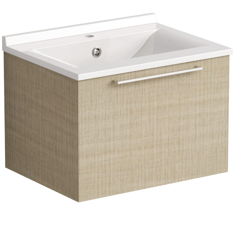 Akido 600 1 Drawer Unit Linen Ash SMO Basin
