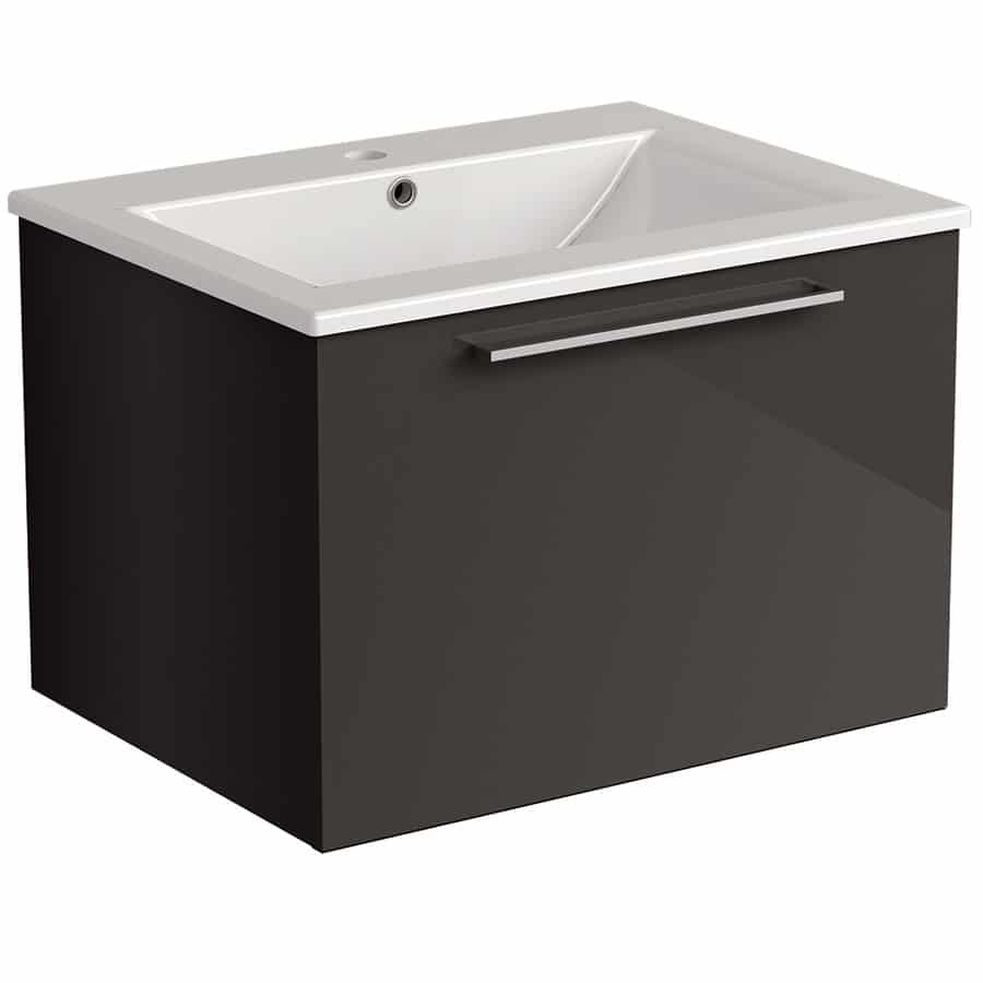 Akido 600 1 Drawer Unit Stardust with Akido Basin