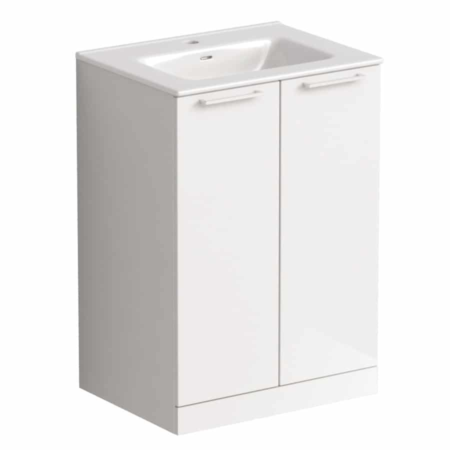 Akido 600 2 Door Unit Gloss White with Boss Basin