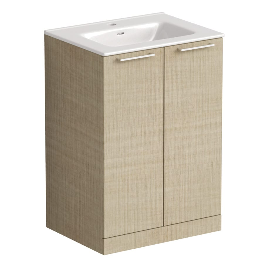 Akido 600 2 Door Unit Linen Ash with Boss Basin