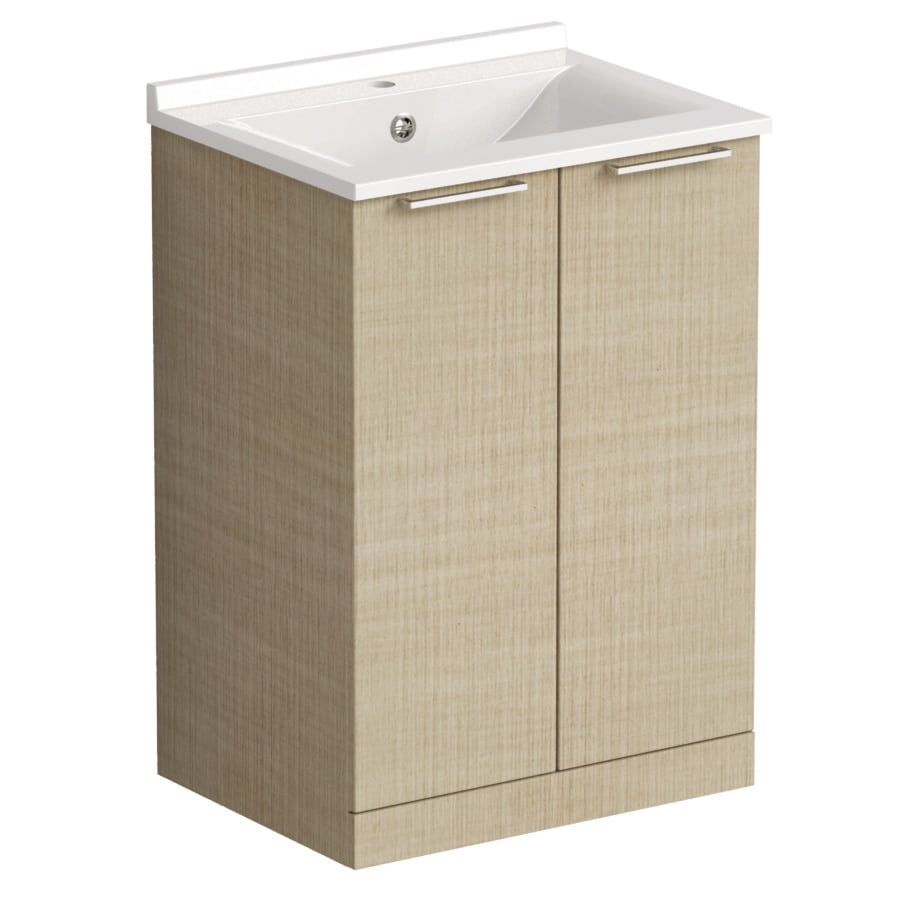 Akido 600 2 Door Unit Linen Ash with SMO Basin