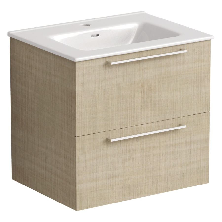 Akido 600 2 Drawer Unit Linen Ash with Boss Basin