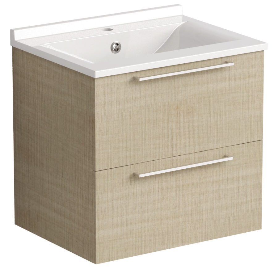 Akido 600 2 Drawer Unit Linen Ash with SMO Basin