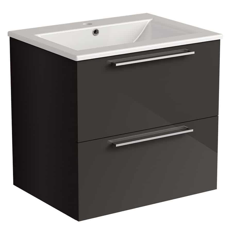 Akido 600 2 Drawer Unit Stardust with Akido Basin