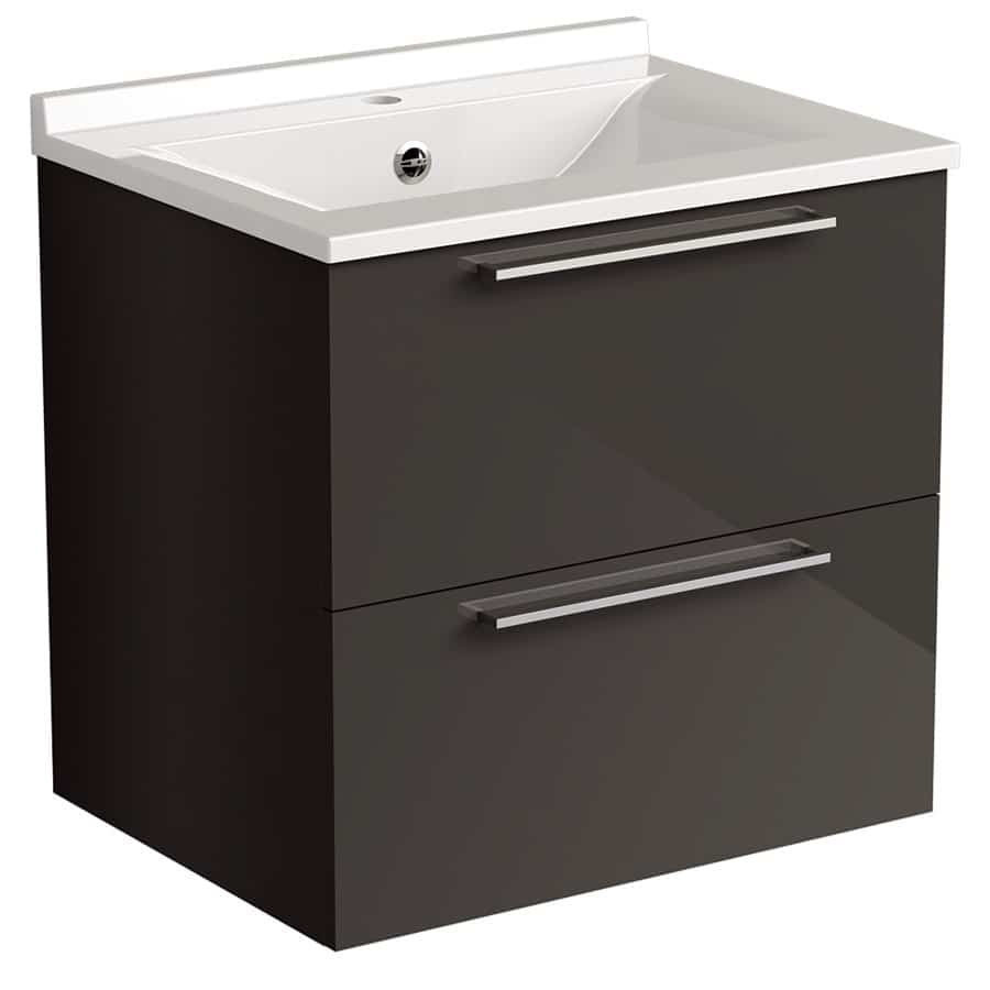 Akido 600 2 Drawer Unit Stardust with SMO Basin