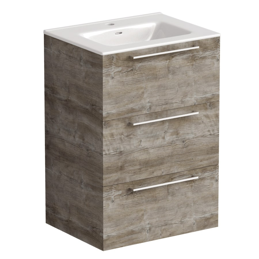 Akido 600 3 Drawer Unit Bosco with Boss Basin