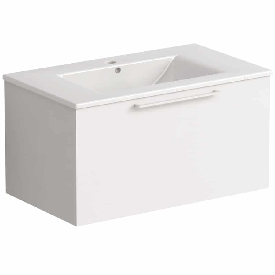 Akido 800 1 Drawer Unit Gloss White with Akido Basin