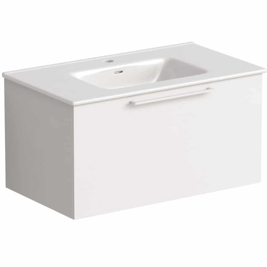 Akido 800 1 Drawer Unit Gloss White with Boss Basin