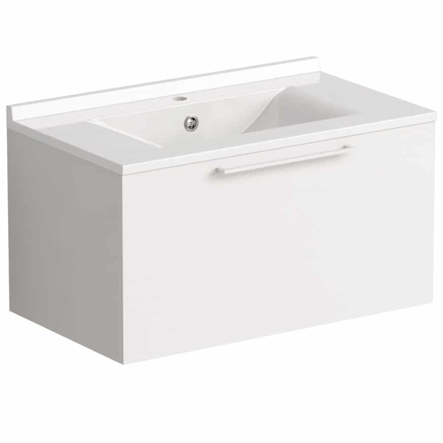 Akido 800 1 Drawer Unit Gloss White with SMO Basin