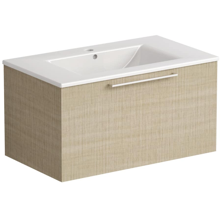 Akido 800 1 Drawer Unit Linen Ash with Akido Basin