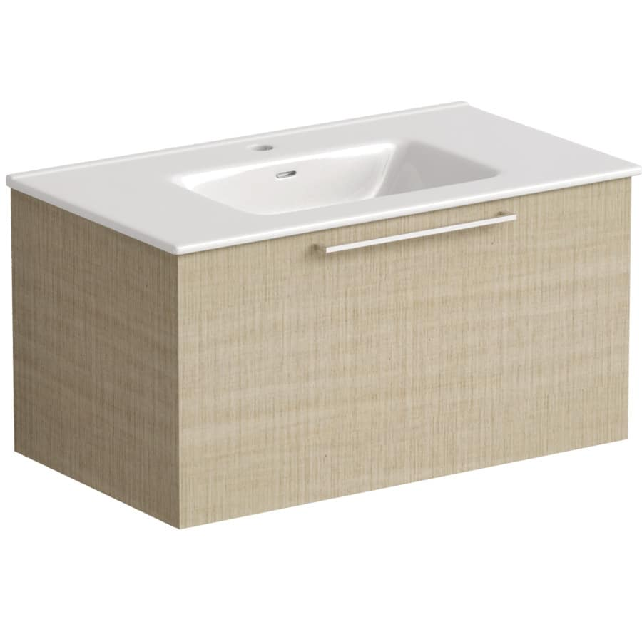 Akido 800 1 Drawer Unit Linen Ash with Boss Basin