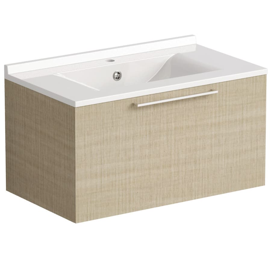 Akido 800 1 Drawer Unit Linen Ash with SMO Basin