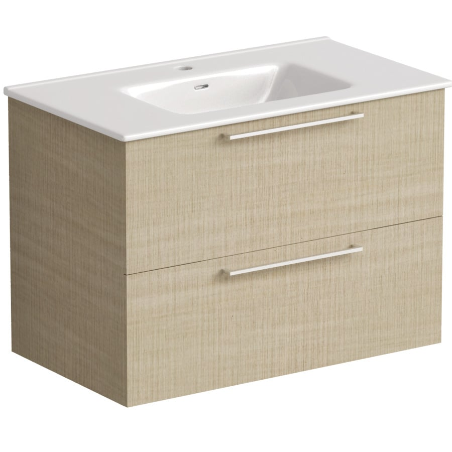 Akido 800 2 Drawer Unit Linen Ash with Boss Basin