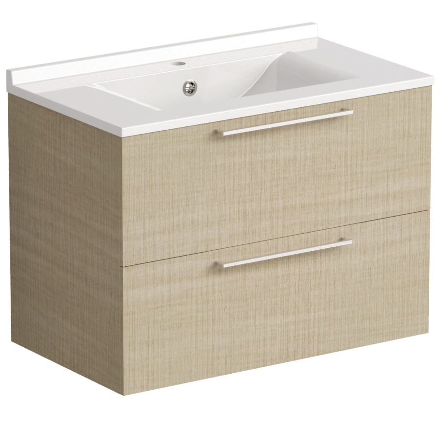 Akido 800 2 Drawer Unit Linen Ash with SMO Basin