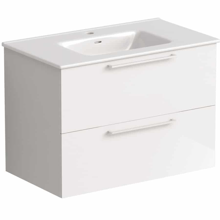 Akido 800 2 Drawer Unit Gloss White with Boss Basin