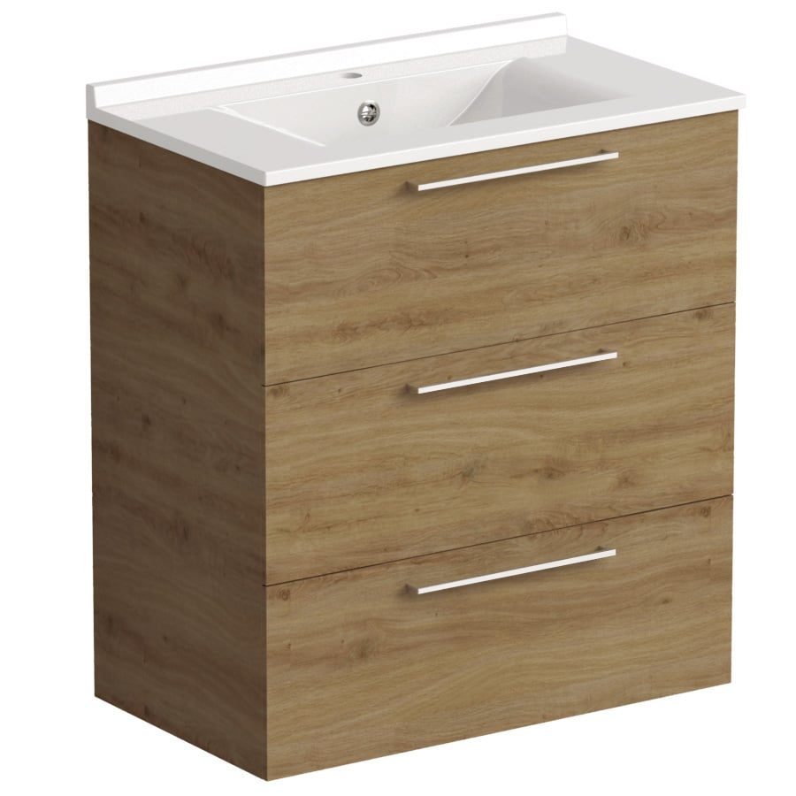 Akido 800 2 Drawer Unit Cortina with SMO Basin
