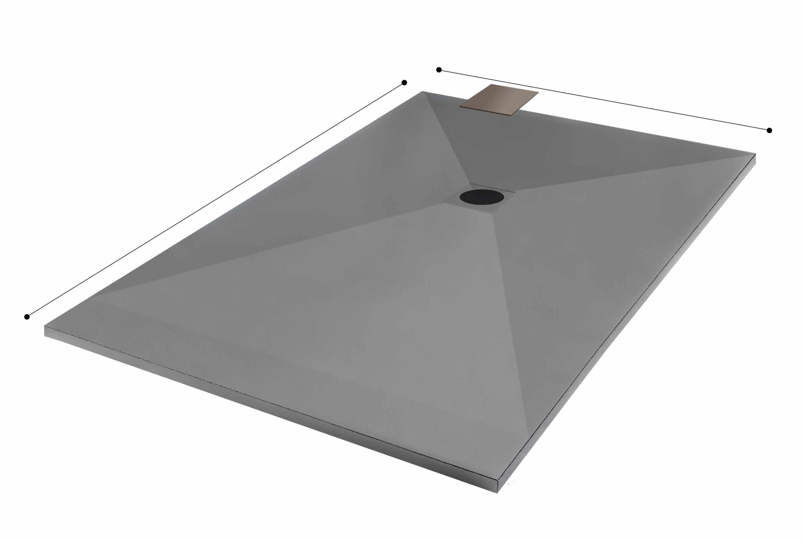 shower tray dimensions